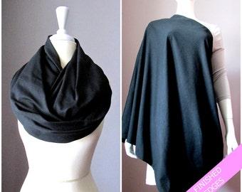 BAMBOO Nursing cover scarf, nursing cover, infinity scarf, breastfeeding cover, nursing infinity scarf, Black infinity scarf