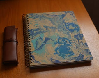 Hand marbled sketchpad