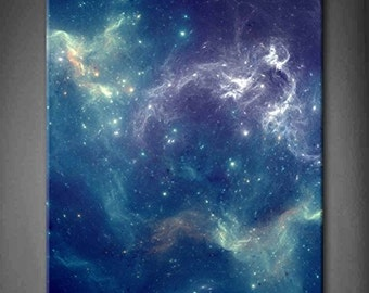 "Space Nebula Print On Canvas (20"" x 24"" x 1.5"")"
