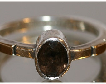 Sterling Silver LA Willie Smoky Topaz Ring/Right Hand Ring/ Stacker