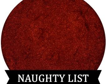 Metallic Red Eyeshadow NAUGHTY LIST