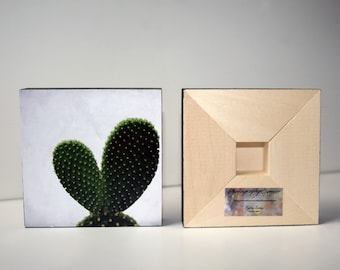 Photo Wood block, NEW PRODUCT !!! Choice of 48 photos, Nature Photo, Flowers, Travel, Vintage, Shells, Beetles, Cactus, Sea