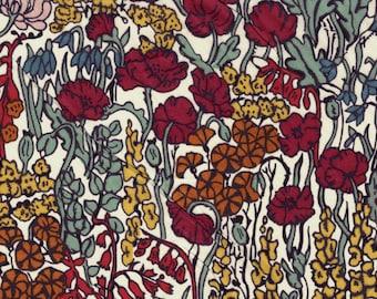 90cm fabric Liberty tana lawn Tiny Poppytot coupon