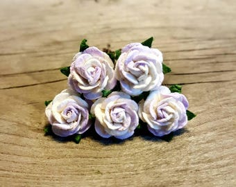 White/Light Purple Rose Hairpin, Wedding Hair Piece, Gift for Her, Flower Hair Pins, Christmas Gift, Hair Accessory