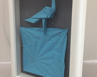 Origami Crane Shadow Box