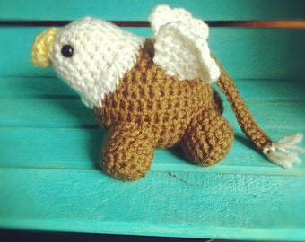 Crocheted Baby Gryphon- Pudgies Collection