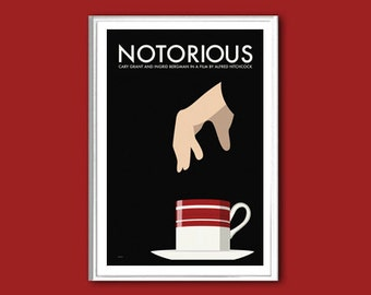 Movie poster Notorious retro print in various