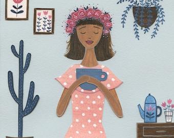 Polkadots & Tea - Giclée Print