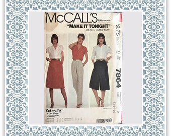 McCall's 7864 (1982) Misses' skirt, pants, and culottes - Vintage Uncut Sewing Pattern