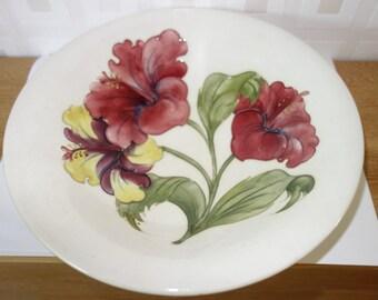 Moorcroft hibiscus pattern bowl 1950's