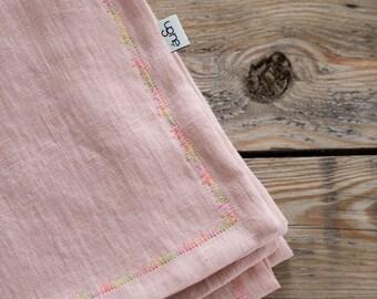 Linen Toddler Blanket / Ash Pink Baby Duvet Cover  / Linen Toddler Blanket / Linen Baby Cover / Baby Girl Baptism Gift / Pram Blanket