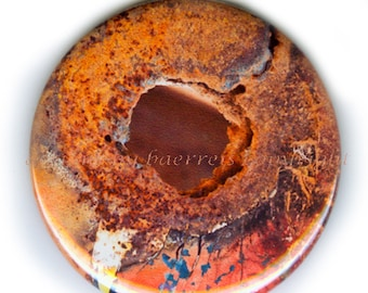 Rusty Wall in Ice House, N Baerreis, Choose Pocket Mirror, Magnet or Pin Back Button