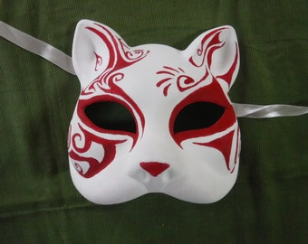 Hand-painted Cat Mask