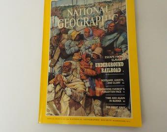 underground railroad national geographic magazine issue vintage july 1984