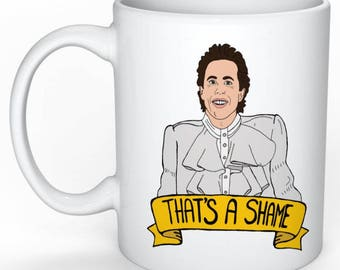 Jerry Seinfeld Mug (George Costanza, Elaine Benes, Cosmo Kramer, Larry David, Curb your Enthusiasm)