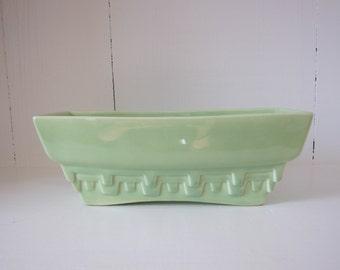 Vintage Haeger Planter USA 3774-A Green