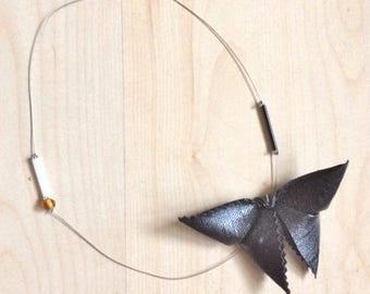 Butterflies gold-kami choker wire steel