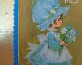 Hand made felt back Hallmark cards tally book made in USA