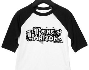 Bring me the Horizon BMTH Rock Band Tee Kids Baby Toddler Band T-shirt Raglan Baseball Top Lil Rocker