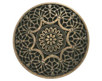 12 Safi 7/8 inch ( 23 mm ) Metal Buttons Brass Color