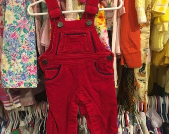 70s Baby Overalls 0/6 Months