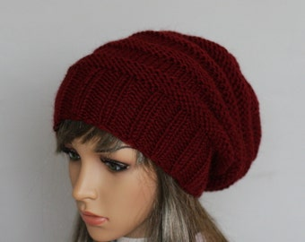 Autumn Accessories-Slouchy Beanie Women Hat Slouchy knit hat - Oversized Hat - Chunky Knit - Women Slouchy knit hat-Sacking Winter Hat