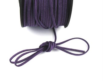 Purple 3 mm suede cord / 1.5 mm X 1 meter