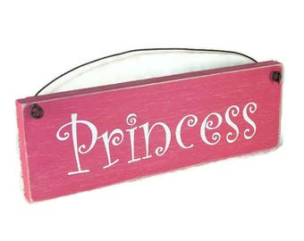 Sign- Princess Funny Rustic Distressed Sign plaque for little girls - assorted colors