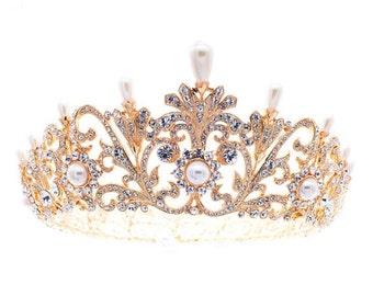 Royal Pearl Tiara Crown