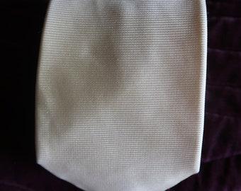 Vintage lemon silk tie from Jenners of Edinburgh.