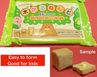 Wood flour clay for handcraft / environmentally enhancing material/ 2packs/ Made in Japan