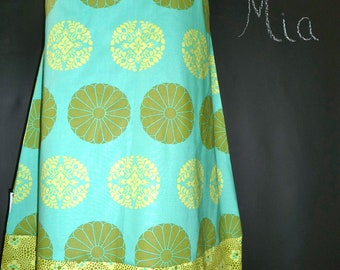 A-line SKIRT - Amy Butler - Cameo - Made in ANY Size - Boutique Mia