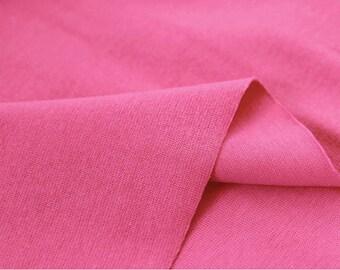 Hot Pink 1x1 Ribbing and Binding Knit Fabric, by Half Yard 77041