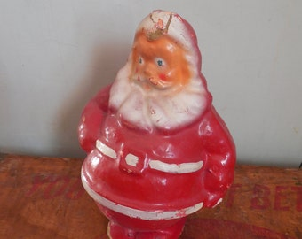 Vintage Papier Mache Santa...Paper Mache