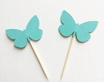 12pc Butterfly cupcake toppers, butterfly food picks, butterfly cupcake decor