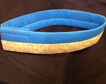 Polynesian Weaved Lauhala And Fabric Costume Belt Or Hip Hei Band...Tahitian Costume Belt Base!! Any Color Of Fabric..