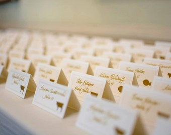 Meal Stickers/Seals - Menu Stickers - Wedding Meal Stickers