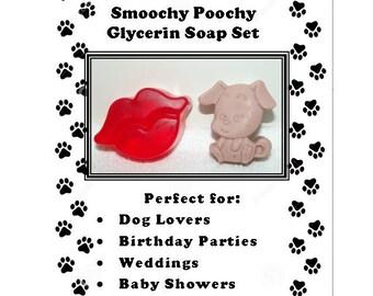 Smoochy Poochy Soap Set, Dog Lover Gift, Puppy Soap, Children's Favor, Lip Soap, Soap Gift Set, Animal Lover Gift, Puppy Gift, Doggie Gift