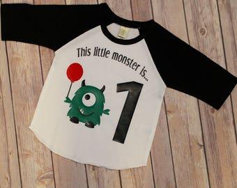 Monster Birthday Shirt, Boys First Birthday Shirt,Boys First Birthday, 1st Birthday Shirt; Boys 1st Birthday, One, One Birthda,