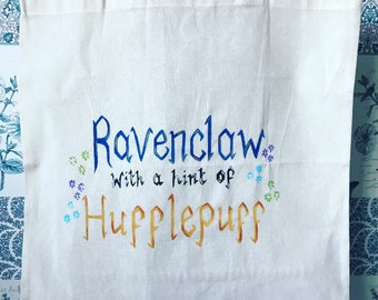 Hand Painted Harry Potter Hogwarts House Tote Bag - Customisable