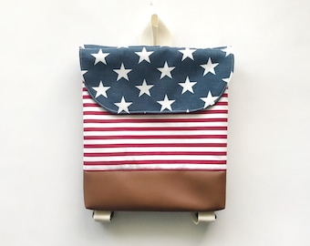 Fourth of July Tiny Pack - Small Backpack - Toddler Backpack - Tiny Backpack - Toddler Bag - Backpack - Americana - Independence Day