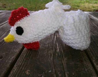 Rooster Willie warmer, chicken,  novelty gift, gag gift,  dick warmer, penis sweater, joke gift, white elephant gift,  willy warmer