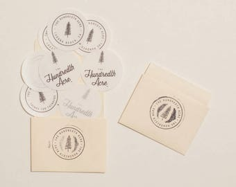 """The Hundredth Acre """"Library"""" sticker pack. Assortment of 8 stickers. Free shipping."""