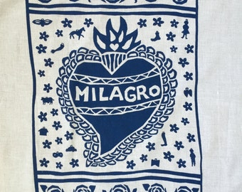 Flour Sack Dish Towel - Milagro: Red or Indigo