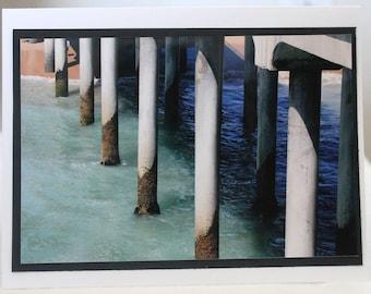 photo card, Huntington Beach pier, ocean, beach