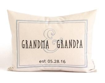 Custom Gift for Grandparents, New Grandparents Gift, Grandma Gift, Grandpa Gift, Gift from Grandkids, Home Decor, Throw Pillows