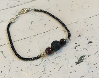 Your choice of stones- lava stone bracelet essential oil diffuser