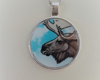 "1"" Moose necklace"