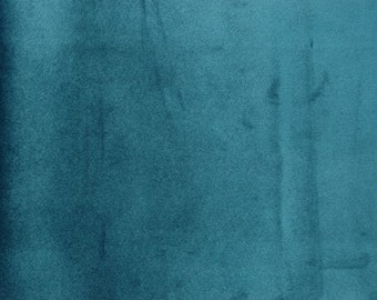 """Teal color, Micro Velvet Fabric,Drapery, Upholstery luxury fabric, 60"""" wide, sold by the  yard, Free Shipping in USA"""