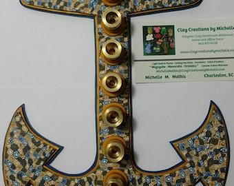 USNA Anchor Menorah - spiral pattern - available